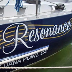 Dana Point, CA Boat Graphics Company