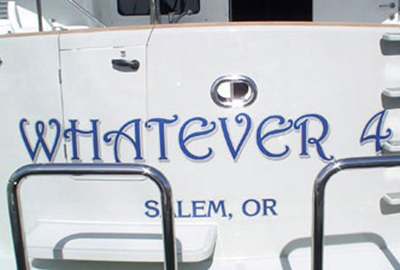Custom Vinyl Boat Lettering Boat Graphics Dana Point