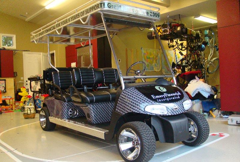 Custom Vinyl Vehicle Graphics/Wraps for Cars, Trucks, Vans, Fleets on custom golf cart body wraps, yamaha golf cart graphic wraps, golf cart graphic kits,